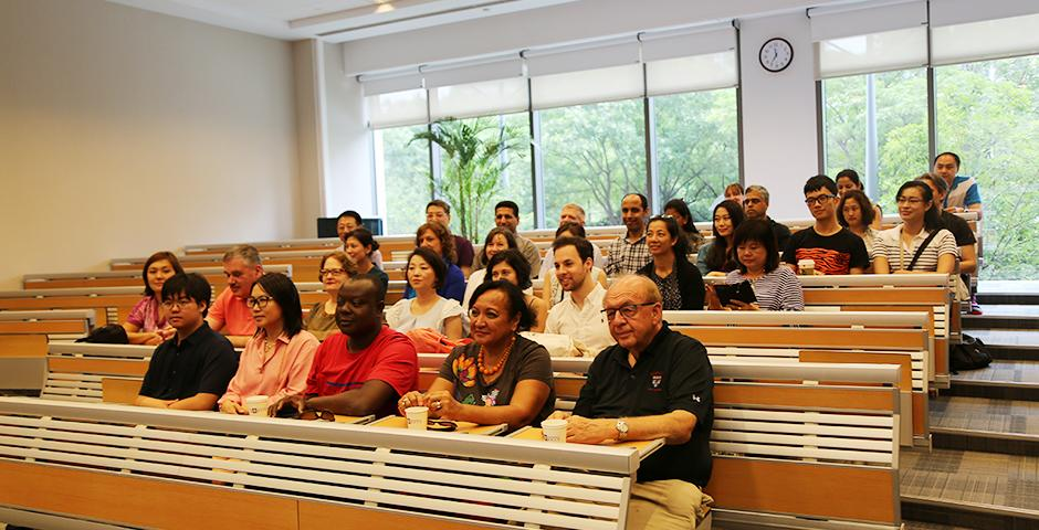 A delegation from the United Nations visited NYU Shanghai on July 18, 2015. (Photo by Fred Wu)