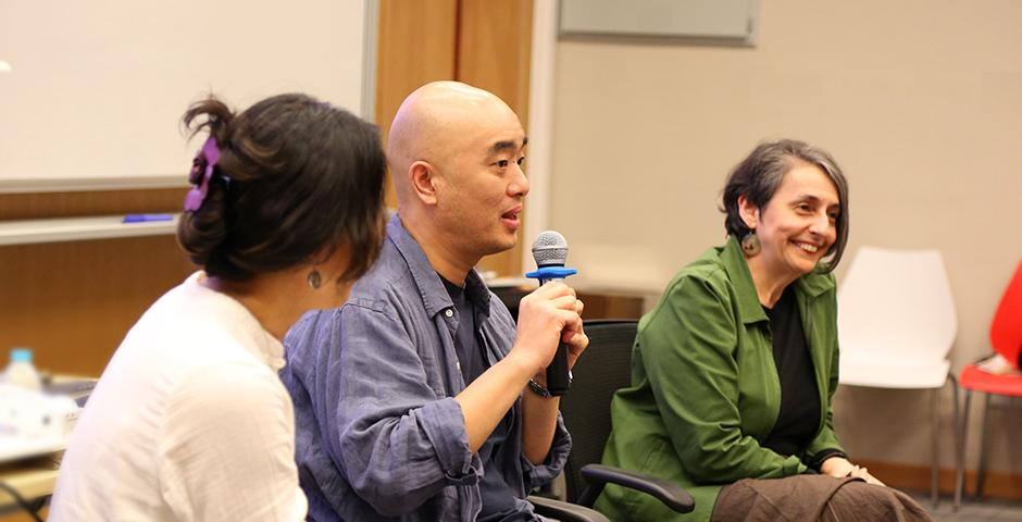 A screening of Zheng Dasheng's documentary DV China (2003) and panel discussion on October 13, 2015. It was the inaugural event from the program of Making Waves with Moving Images.  (Photo by: Jackie Hu)