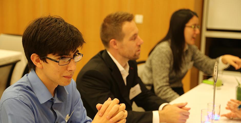 The NYU Global Alumni Programs and NYU Shanghai's Career Development Center held a launch dinner for the second year of the NYU Alumni Executive Mentor Program on November 12, 2015. (Photo by: Shikhar Sakhuja)