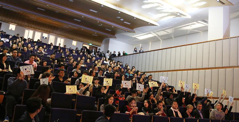 NYU Shanghai Sing-Off on November 18, 2015. (Photo by: Wenqian Hu)