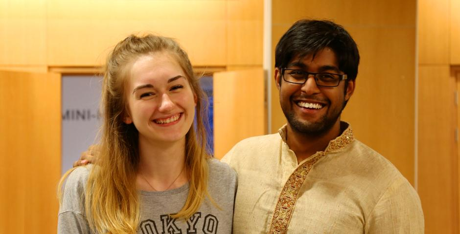 Diwali celebrations at NYU Shanghai on November 1 included henna painting, sharing sweets and the exchange of wishes for the glow of joy. (Photo by: Nacole Abram)