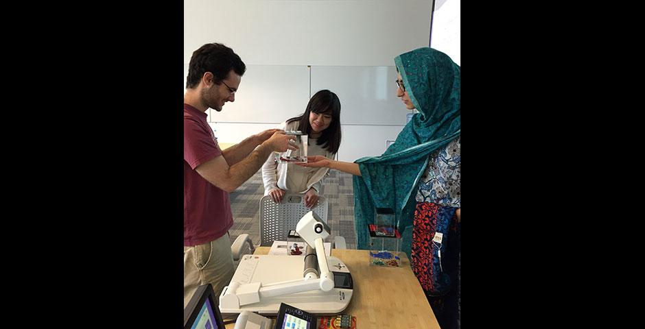 Foundations of Science Chemistry students present their two-month findings on crystal growth. May 12, 2015.