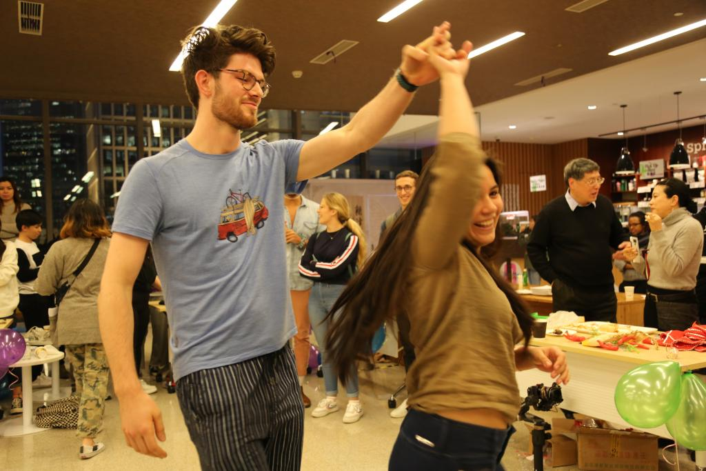 Students show off their latin dance technique.