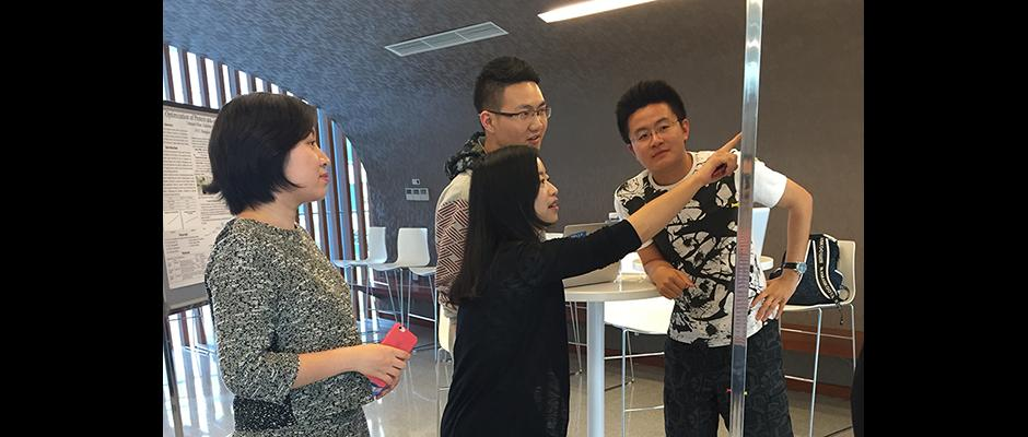 FoS students showcased their final project to the audience. May 13, 2015. (Photo by Wenshu Li)