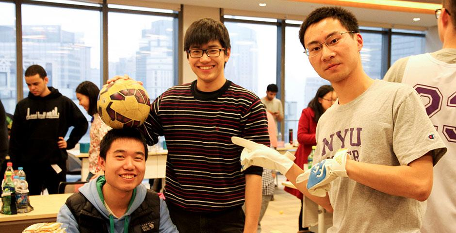Students gathered in the 15th Floor Colloquium Room to learn about getting involved with NYU Shanghai's many clubs and student organizations. January 30, 2015. (Photo by Zhijian Xu)