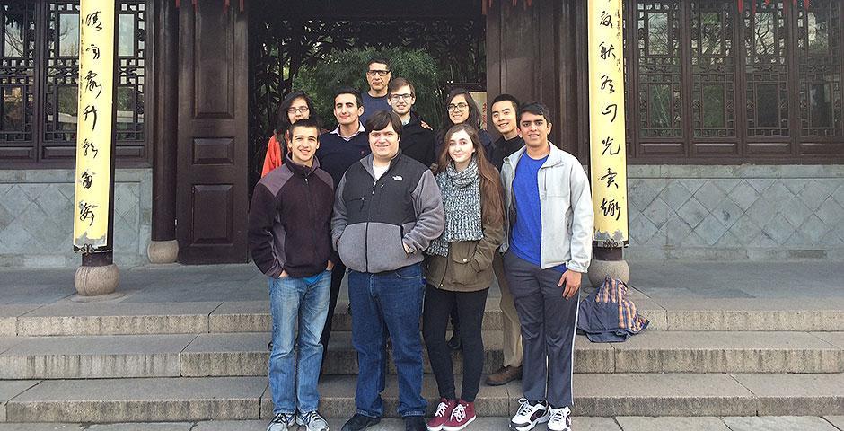 Members of NYU New York and NYU Abu Dhabi take a trip to Yangzhou as part of their J-Term course in Shanghai. January 19, 2015.