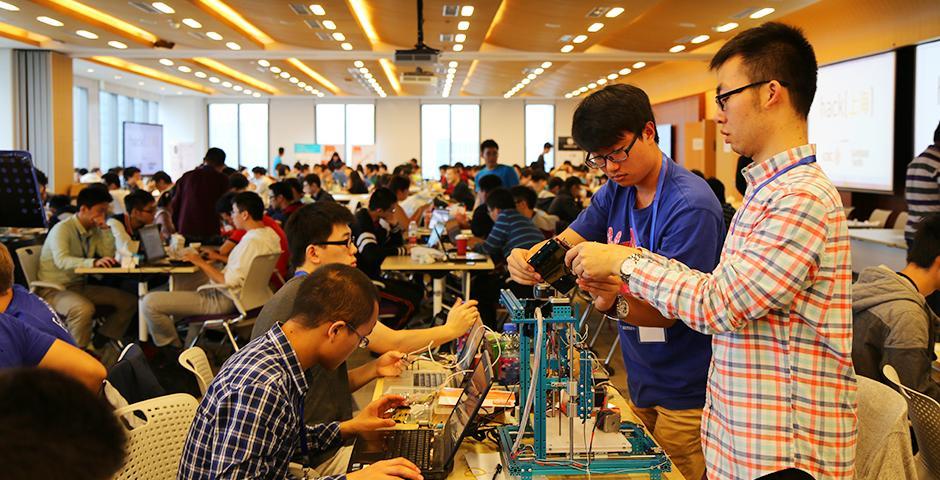HackShanghai at NYU Shanghai on November 7-8, 2015. (Photo by: NYU Shanghai)