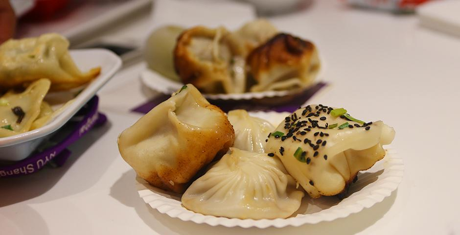 A seemingly numberless array of dumplings were savored by students and faculty at the NYU Shanghai's Annual Dumpling Festival on November 19  (Photo by: Leidy Tapasco)