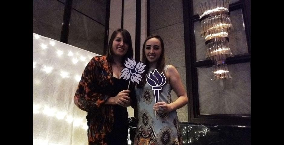 NYU Shanghai's freshman class dresses up for Amethyst 2014, an end-of-winter cocktail party at Kerry Hotel. December 4, 2014. (Photo by Annie Seaman and Michelle Huang)