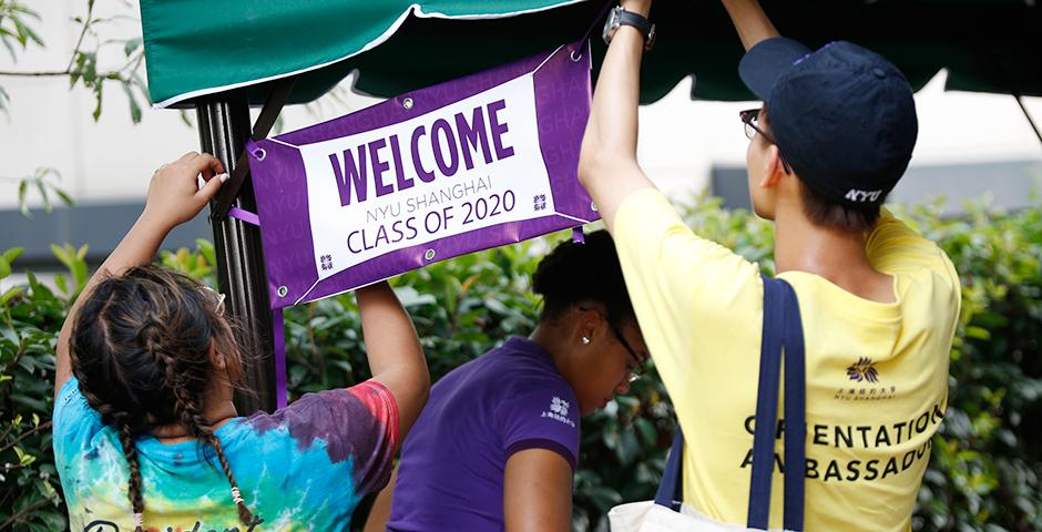 Students from 39 countries moved into their dorms today, marking the start of their NYU Shanghai journey.  Welcome to your new home, Class of 2020!  (Photo by: NYU Shanghai)