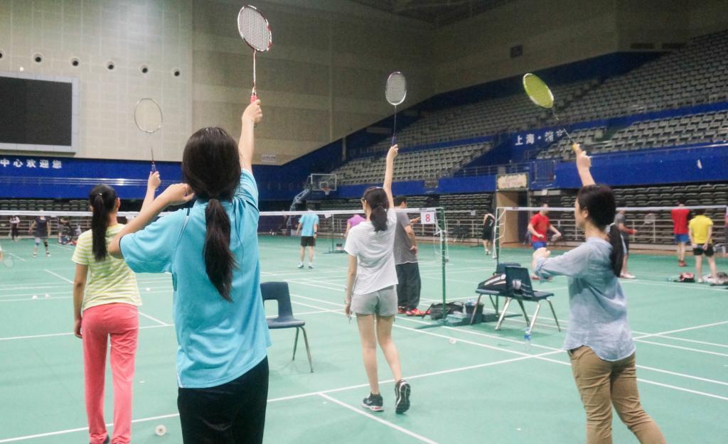 Badminton Training, September 22. (Photo by Zhijian Xu)