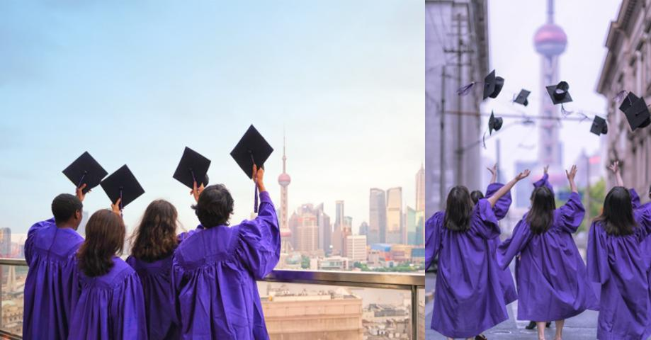 """""""I hope that my photos can inspire other NYU Shanghai students. During this difficult time, taking the graduation photos was about showing our strength, that we are together even though we are not all physically together--our feelings and our strength unite us."""""""