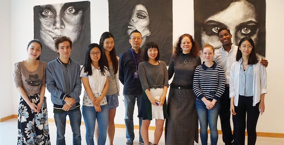 The NYU Shanghai students of Advanced Studio Art showcased their end-of-semester works on May 13. (Photos by: NYU Shanghai)