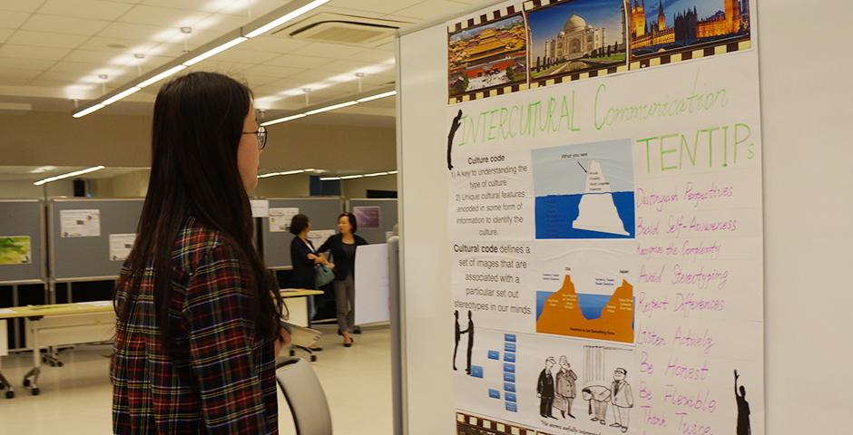 The English for Academic Purposes program presented an end-of-semester show that featured themes including intercultural communication and narratives of science. (Photos by: NYU Shanghai)