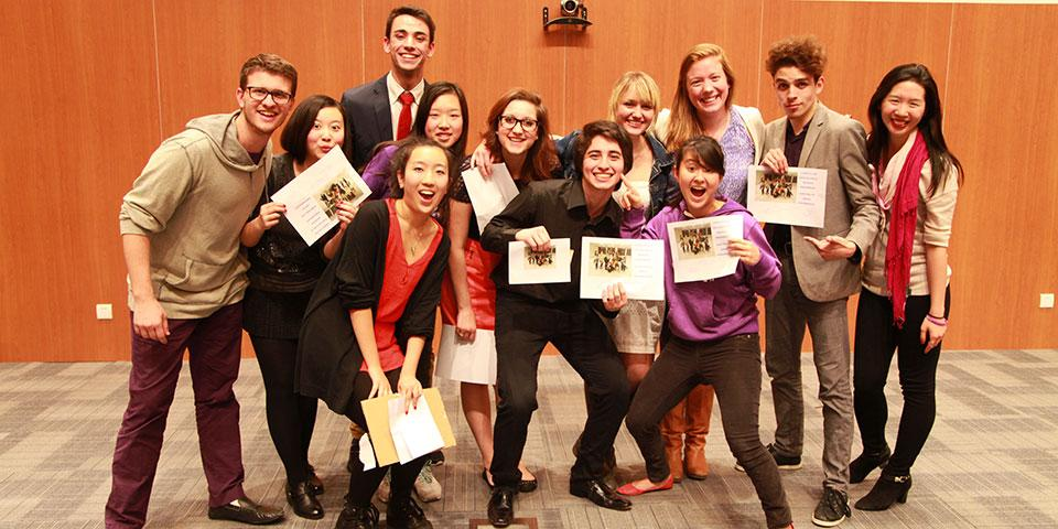 As a fundraiser for the Deans' Service Scholars program, NYU Shanghai students performed and competed for the title of Shanghai Phenomenon. November 13, 2014. (Photo by Kylee Madison Borger)