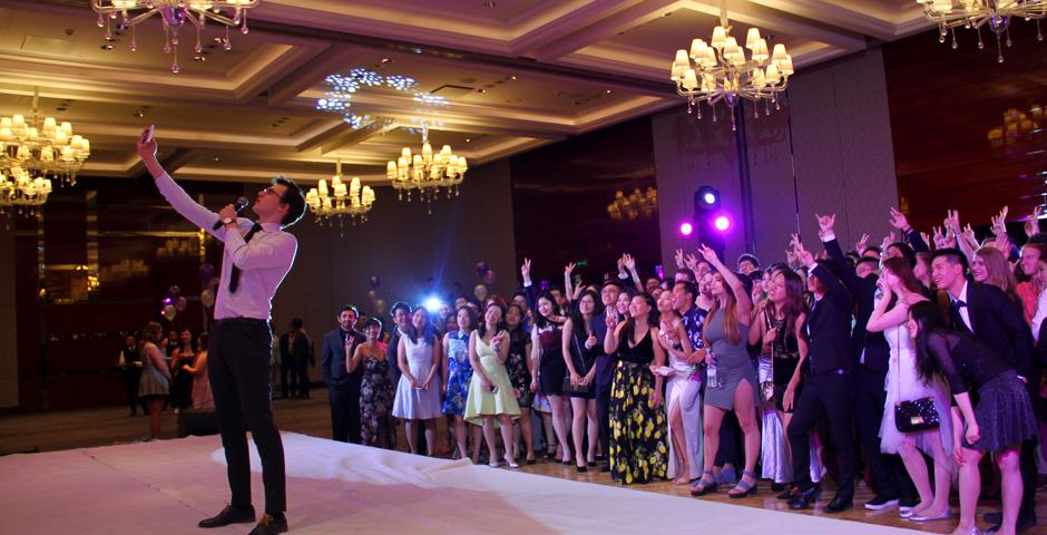 NYU Shanghai students enjoyed a timely diversion from end-of-semester exams with the Amethyst Spring Formal on April 28. (Photo by: NYU Shanghai)