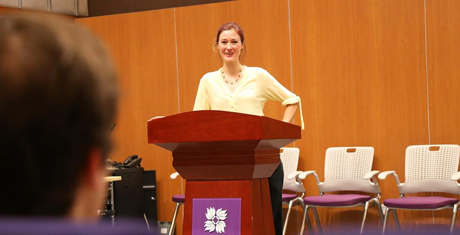 The NYU Shanghai student-organized Sustainable Development Conference on April 16 brought together industry leaders for discussions on factoring external costs into business decisions. (Photos by: Sevi Reyes)