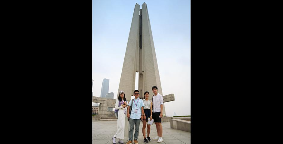 Find the Monument to the People's Heroes? Challenge complete (Photo by: NYU Shanghai)
