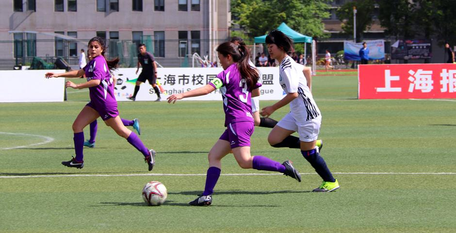 In the second half, the NYU Shanghai players started being more positive in their attack.