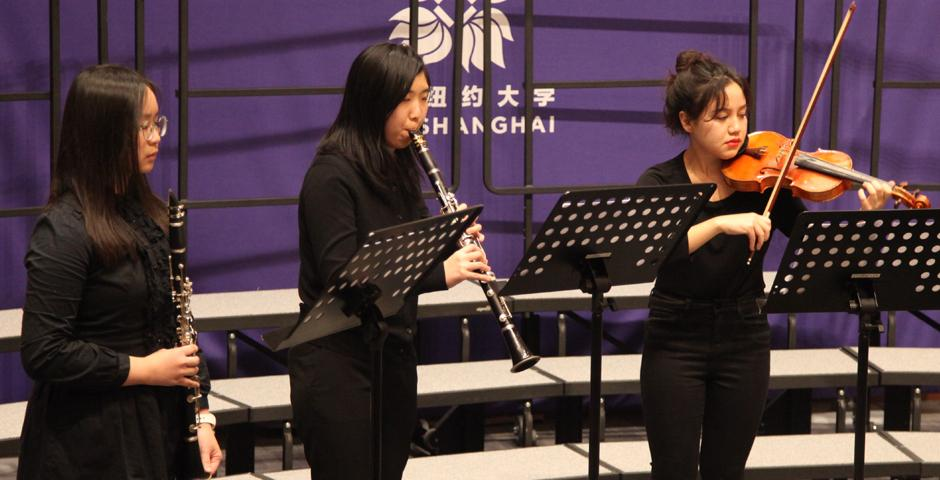 Enjoy fragments from the End of Year Music Concert with NYU Shanghai Chorale, Instrumental Chamber Ensemble, Erhu Class, Bamboo Flute Class and Private Voice Classes. (Photo by: NYU Shanghai)