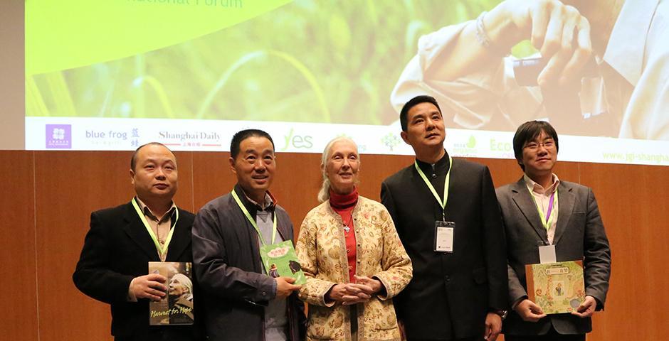 Youth for Environmental Sustainability Forum at NYU Shanghai. Keynote Speaker: Jane Goodall. November 9, 2014. (Photo by Dylan J Crow)