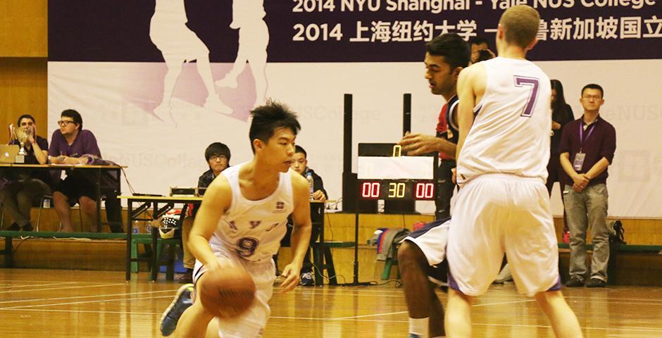 NYU Shanghai vs Yale-NUS Basketball Game, November 1st, 2014. (Photo by Kevin Pham)