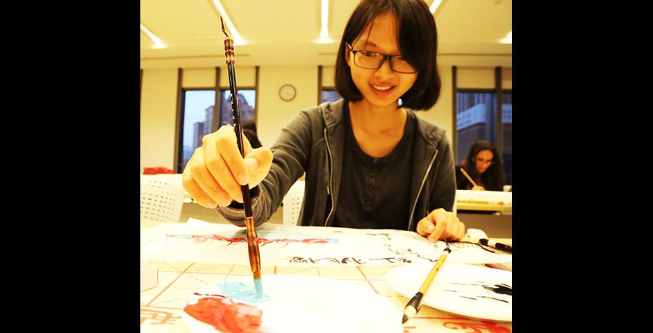 Chinese Painting Class, October 22, 2014. (Photo by Annie Seaman)