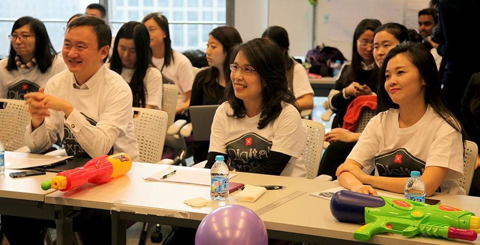 The first-ever DBS Digital Express Challenge at NYU Shanghai provides participants with Design Thinking and Lean Startup methodology training. January 24, 2015. (Photo by Rhine Lu)