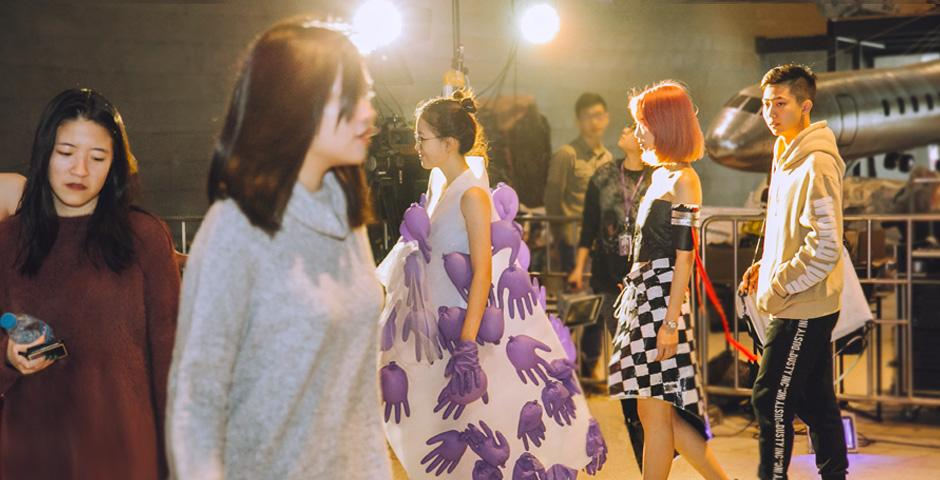 Models and designers line up to take a final bow.