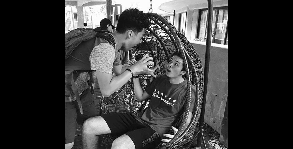 ...and take a photo worth 1,000 screams. (Photo by: NYU Shanghai)