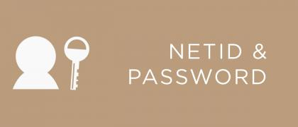 Your NetID and Password