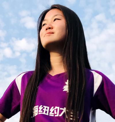 In soccer uniform